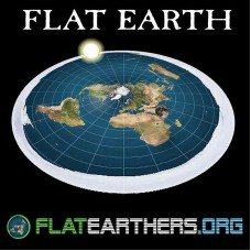Flat Earth Map - Flat Earthers Logo Flat Earth Bumper Sticker