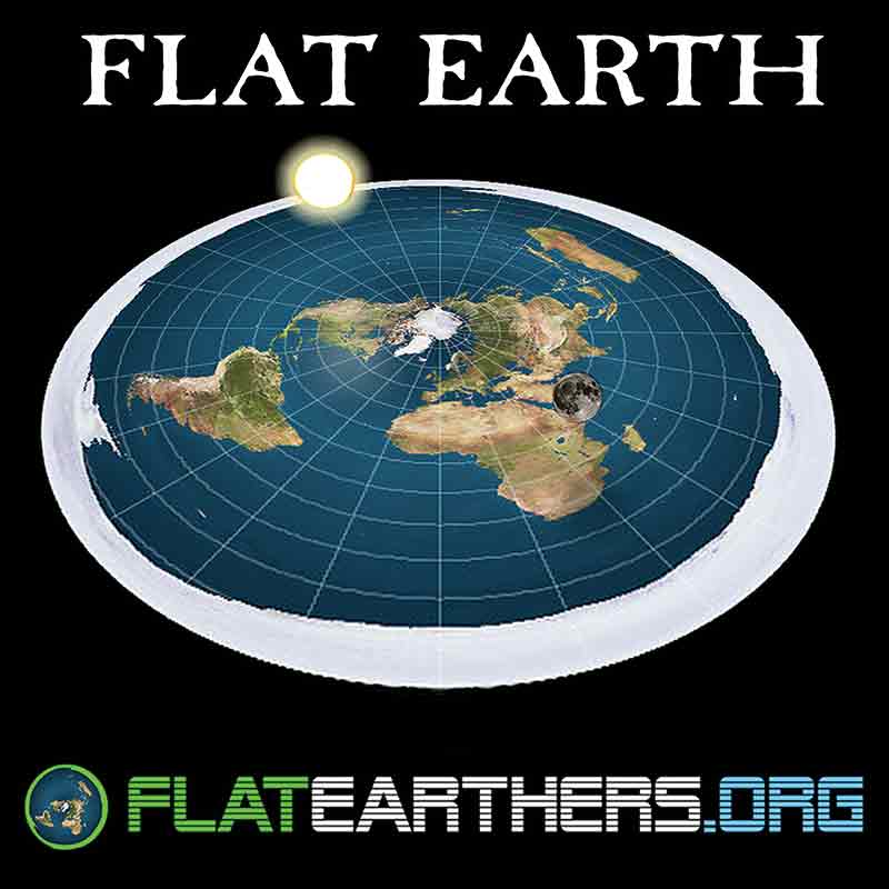 New Flat Earth Map.Flat Earth Map Flat Earthers Logo Flat Earth Bumper Sticker