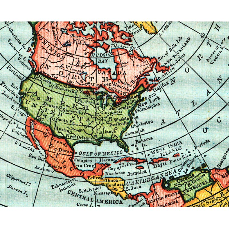 New Map Of Earth.Flat Earth Map Gleason S New Standard Map Of The World Large 24