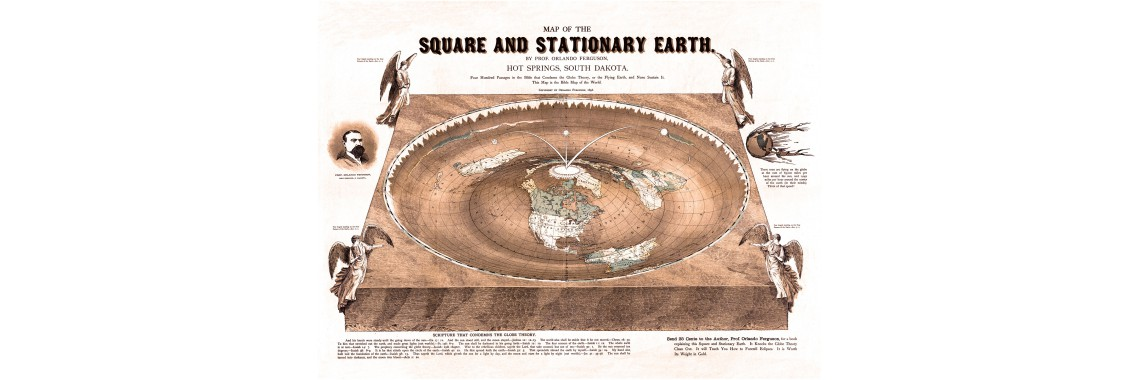 Map of the Square and Stationary Earth -Orlando Ferguson