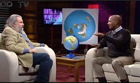 Flat Earth Presentation On Macedonian Late Night Talk Show