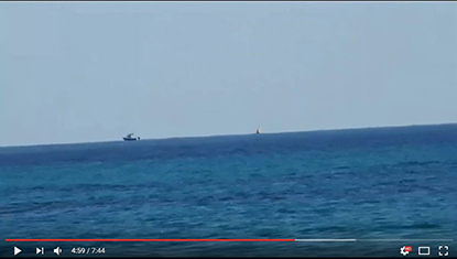 Flat Earth - Cargo Ship Out At Sea Proves Flat Earth Nikon P900 Digital Camera Video Footage